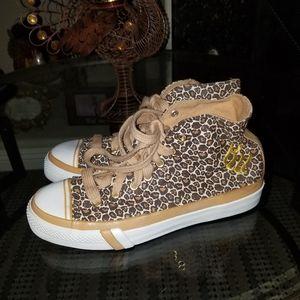 Pro-Keds high top leopard print shoes super c